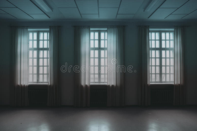 Windows In A Dark Room Free Public Domain Cc0 Image