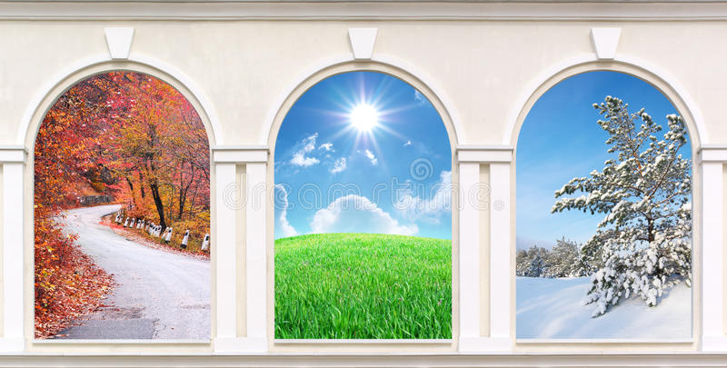 Windows de estaciones fotos de archivo