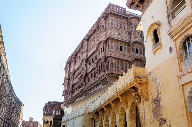 Windows de fort de Mehrangarh, Ràjasthàn, Jodhpur, Inde photographie stock libre de droits