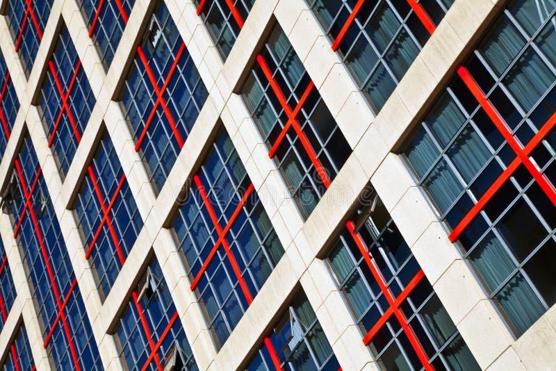 Windows de uma construção alta da elevação fotografia de stock royalty free