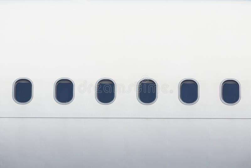 Windows del aeroplano foto de archivo libre de regalías