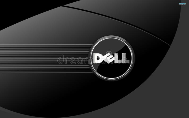 Windows Dell icon for laptop royalty free stock image