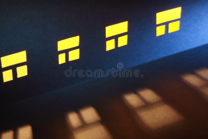 Windows in der Nacht stockfotografie