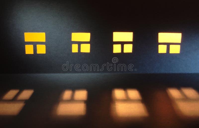 Windows in der Nacht lizenzfreie stockfotos