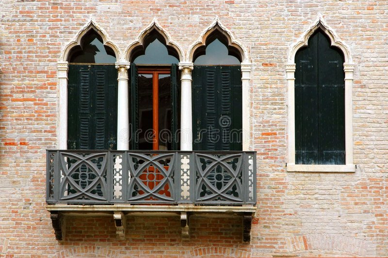 Windows der Venedig-Serie lizenzfreie stockfotografie