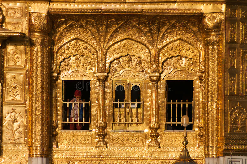 Windows des goldenen Tempels in Amritsar Indien lizenzfreies stockfoto
