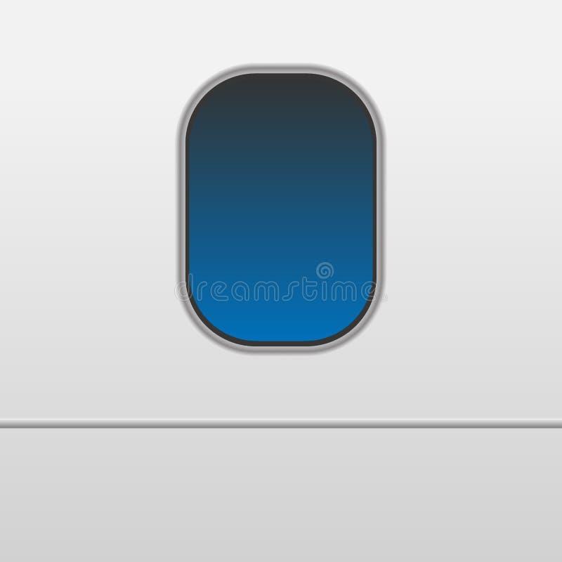 Windows do avião branco ilustração stock