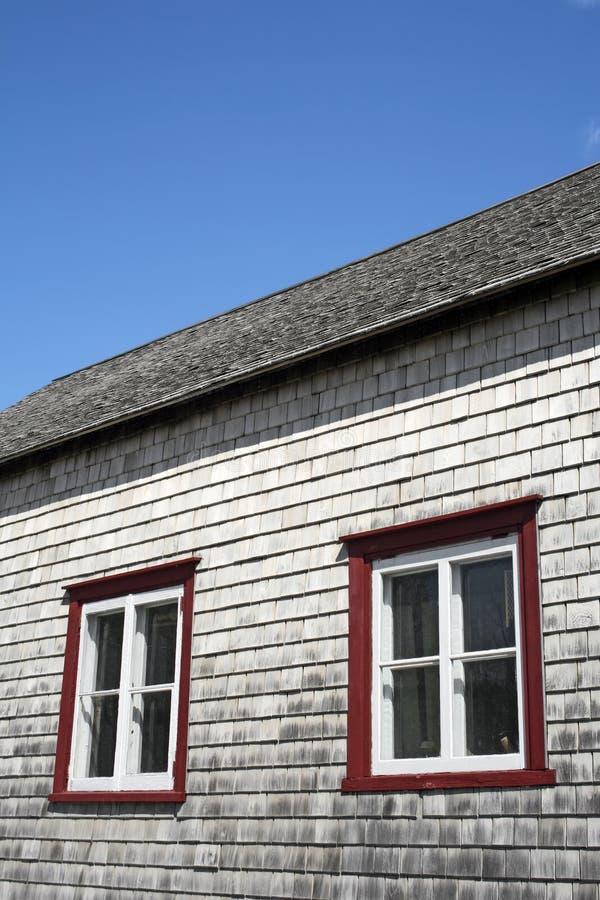 windows eines alten rustikalen hauses stockbild bild von. Black Bedroom Furniture Sets. Home Design Ideas
