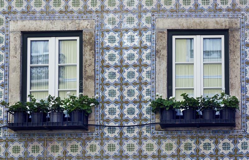 Windows em Lisboa fotografia de stock royalty free