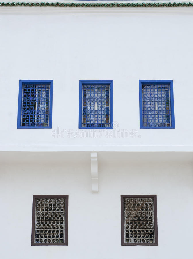 Windows em Rabat foto de stock