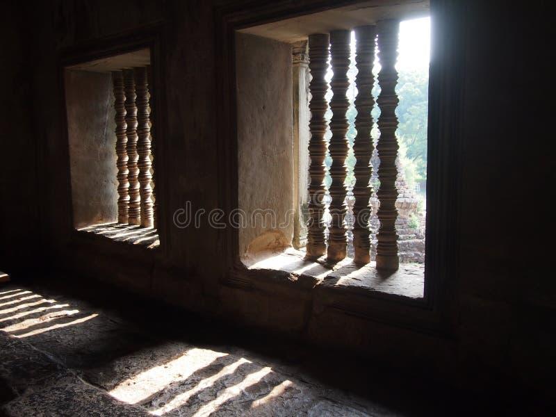 Windows en Angkor Wat en Siem Reap, Camboya foto de archivo libre de regalías