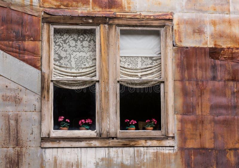 Windows en el pueblo fantasma de St Elmo fotos de archivo libres de regalías