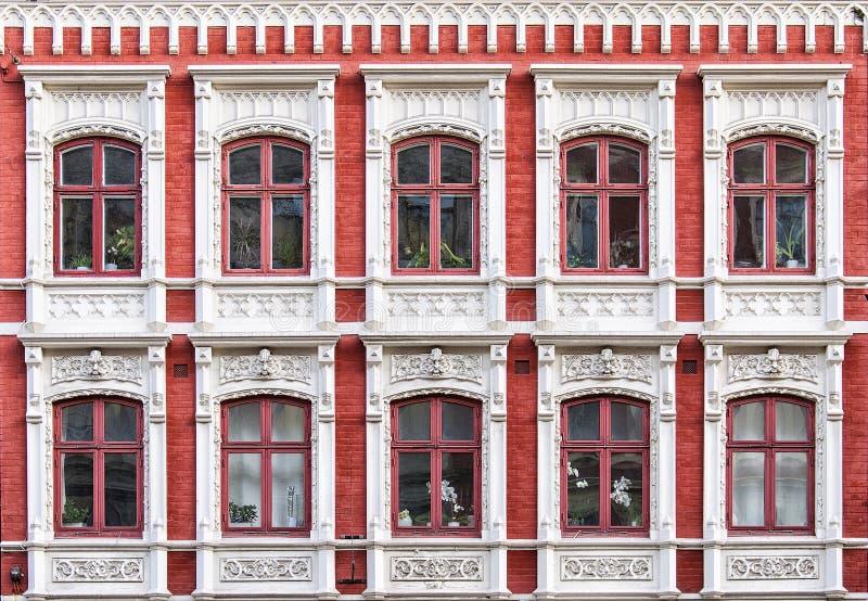 Windows-Fassade stockfotografie