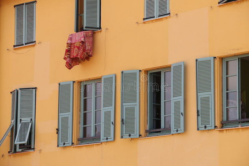 Windows francese fotografia stock