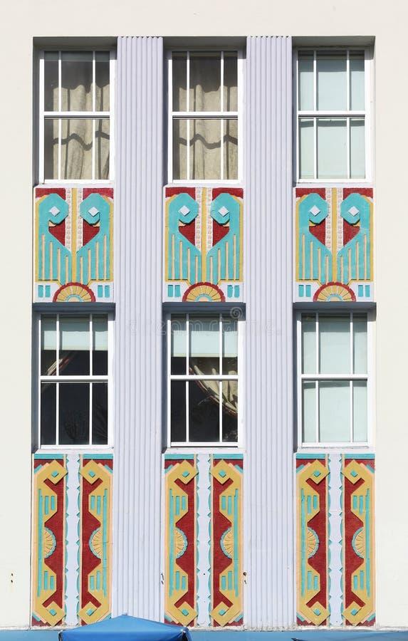 Windows Friezes Of Art Deco Building Stock Photo Image - Building architectural windows