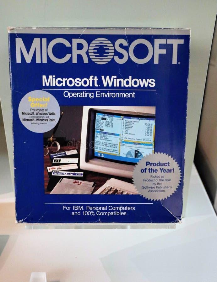 MIcrosoft Windows operating system, version1, c. 1985 royalty free stock image