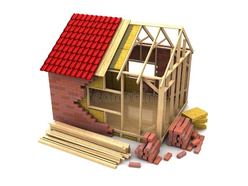 Windows, Haustür und Garage lizenzfreie abbildung