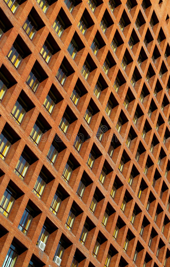 Windows on high rise building royalty free stock image