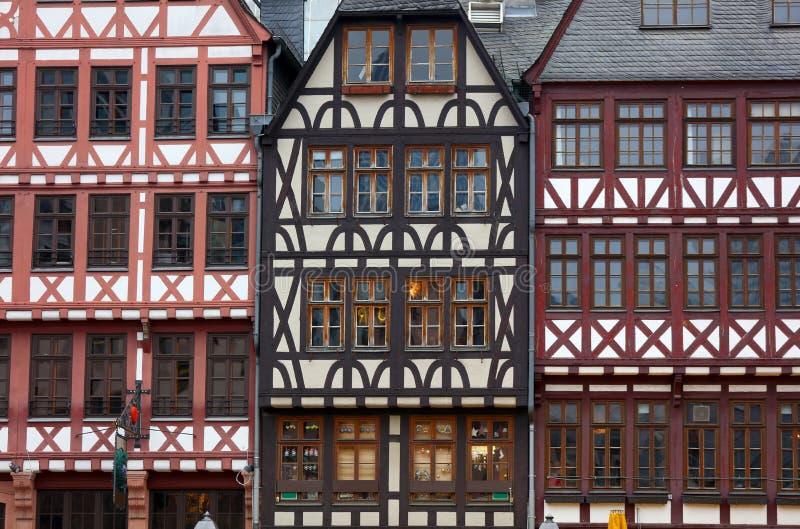 Windows on on historic European style homes royalty free stock photos
