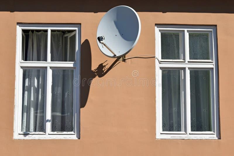 Windows i antena satelitarna obraz stock