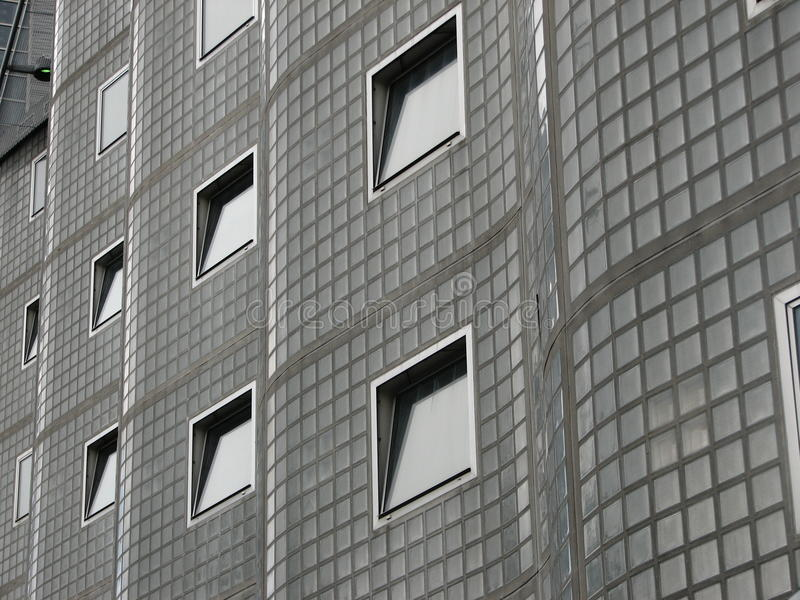 Windows on an interesting building royalty free stock photo