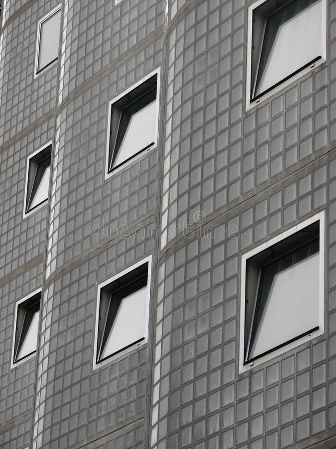 Windows on an interesting building royalty free stock image