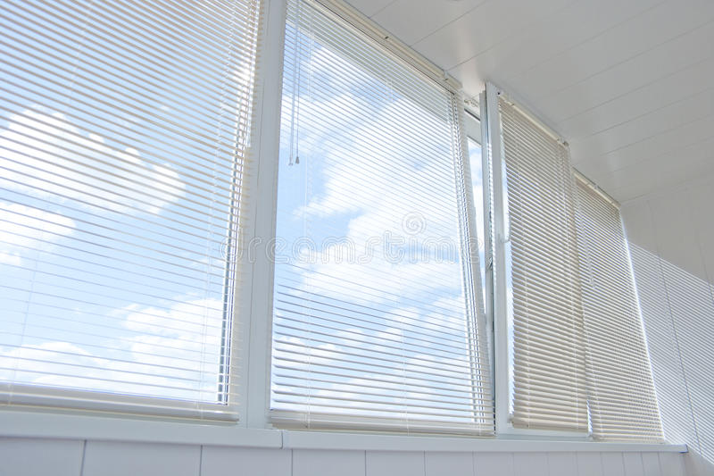 Windows jalousie stock photography