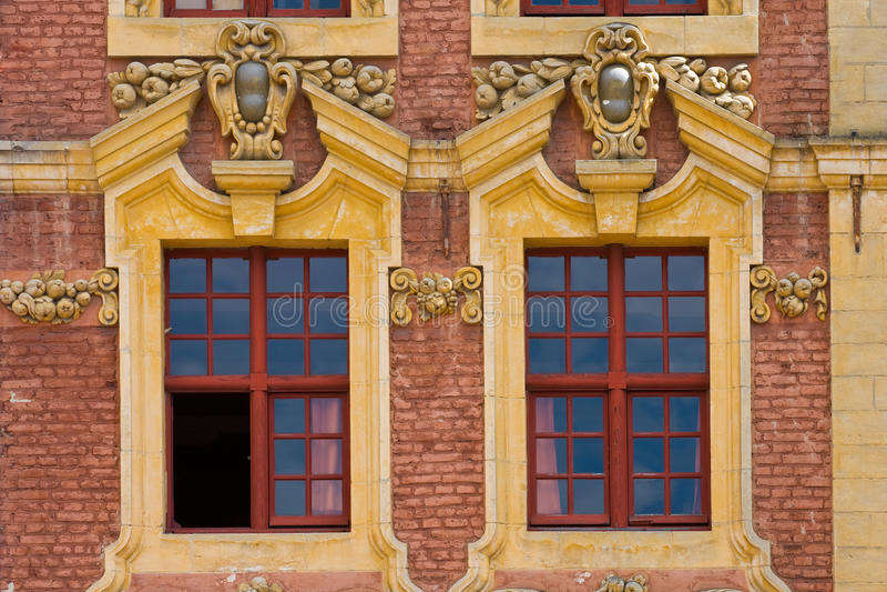 Windows a Lille, Francia fotografie stock