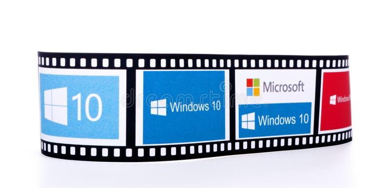 Windows 10 logoer royaltyfri bild