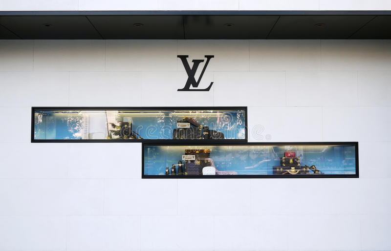The windows of louis vuitton royalty free stock photography
