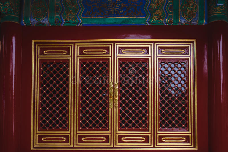 The windows, made in traditional chinese style royalty free stock photo
