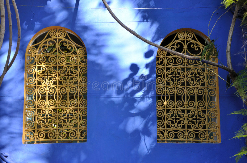 Windows in Marrakech royalty free stock images