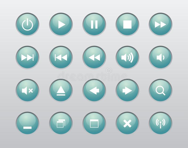 Download Windows And Media Player Navigation Button Stock Vector - Image: 21387049