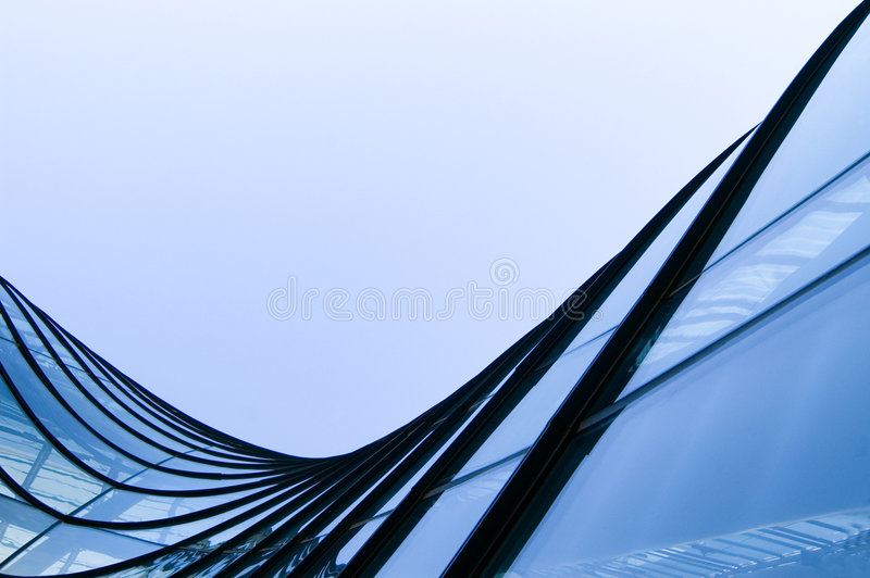 Windows by modern building royalty free stock images