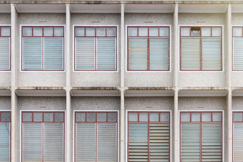 The windows at the modern building facade. stock photo