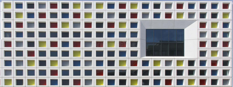 Windows multicolore fotografia stock libera da diritti