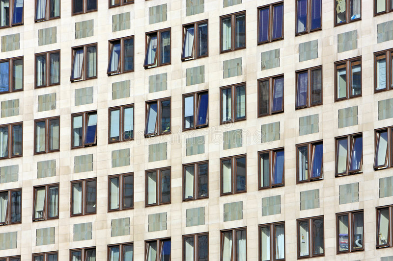 Download Windows in Office block stock photo. Image of urban, curved - 9353940