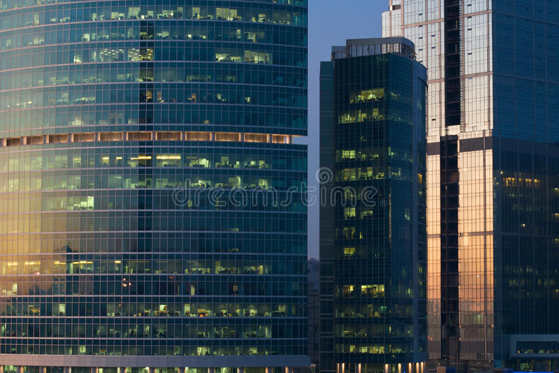 Windows of an office building royalty free stock images