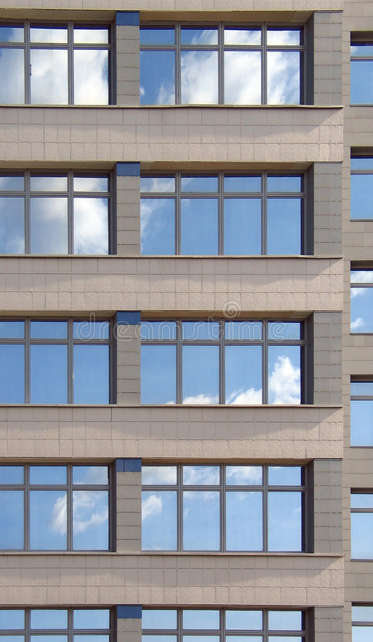 Windows of the office building stock photos