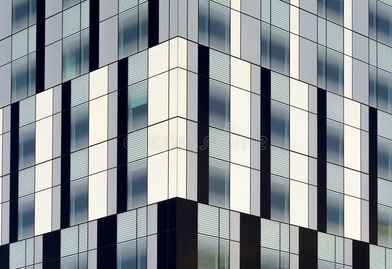Windows of an office building as abstract background. Black white Windows of an office building as abstract background royalty free stock photos