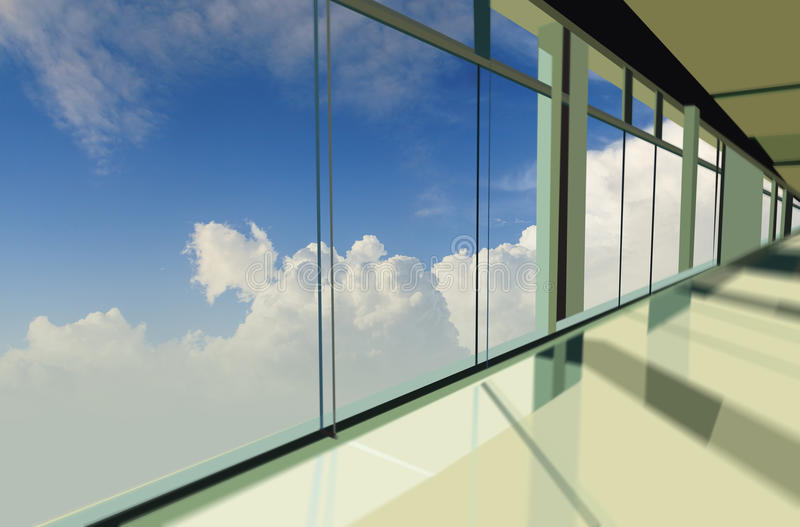 Windows in office building. Windows in modern office building royalty free stock photo