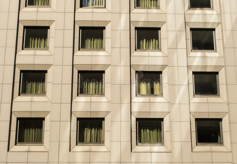 Windows on a office building. stock photography
