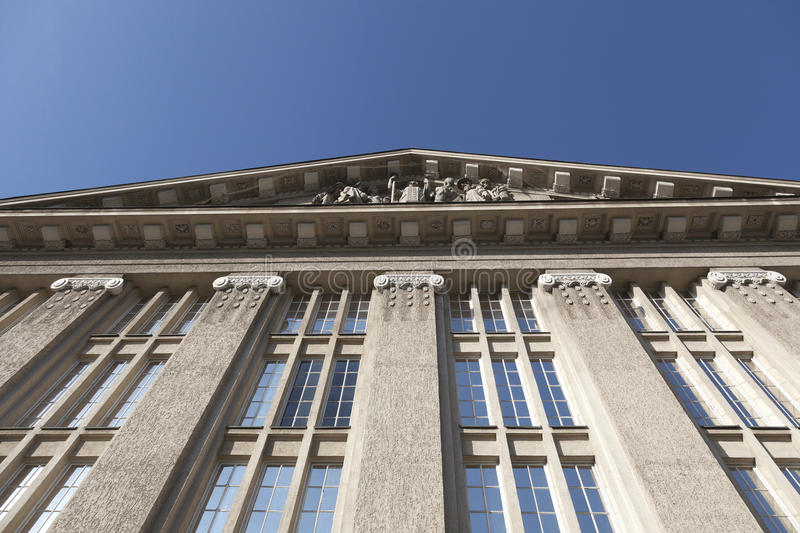 Windows of old building. In neo classical style royalty free stock photo