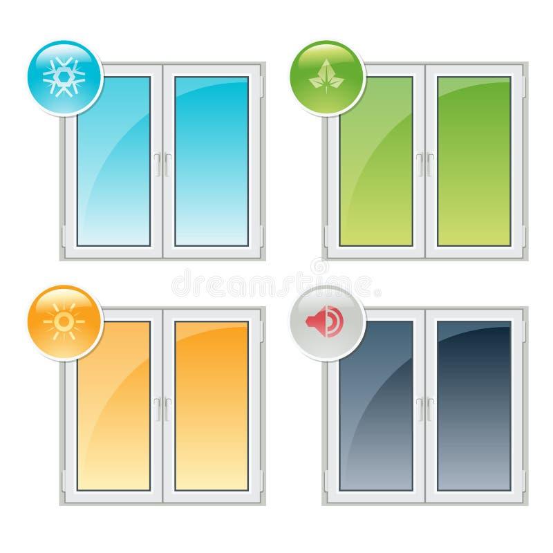 Windows plástico stock de ilustración