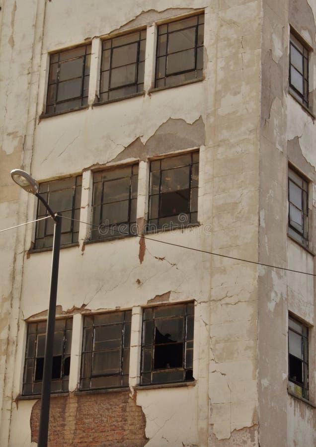 Windows quebrado fotografia de stock