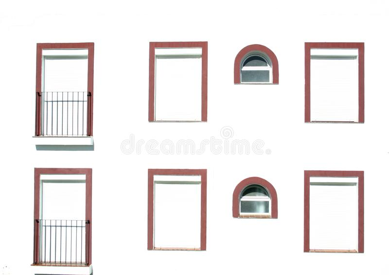 Windows with red frames