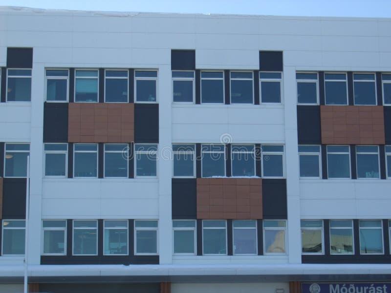 Windows Of Reykjavik,Iceland Modern Multi Coloured F Stock Photo ...