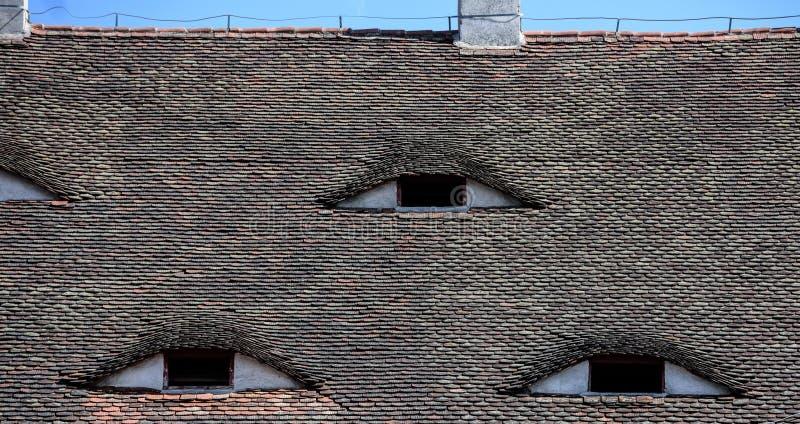 Famous Eyes  Roof With Eye-like Windows  Stock Image - Image