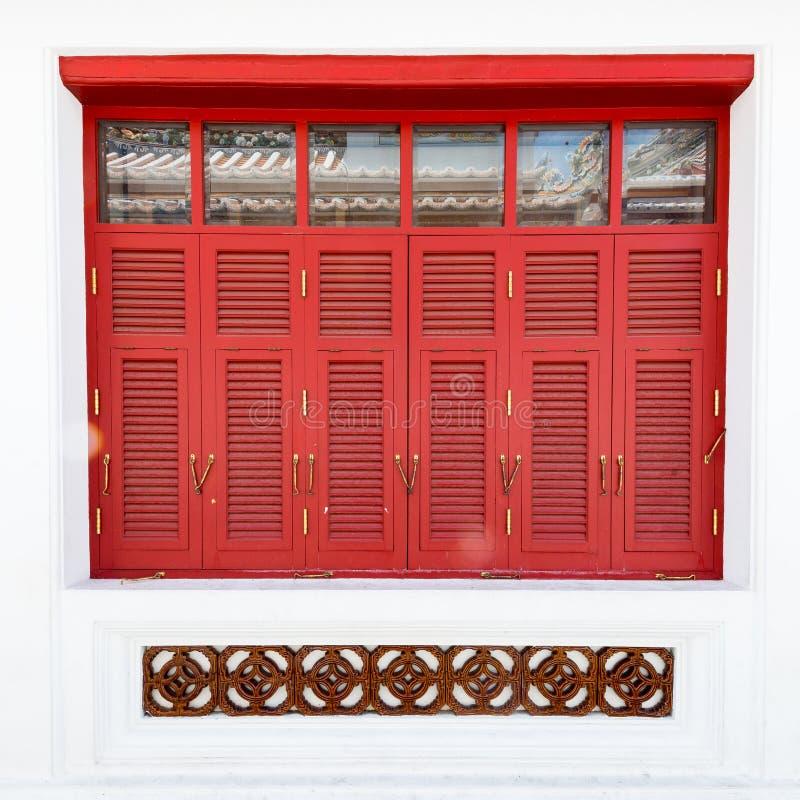 Windows rosso fotografie stock
