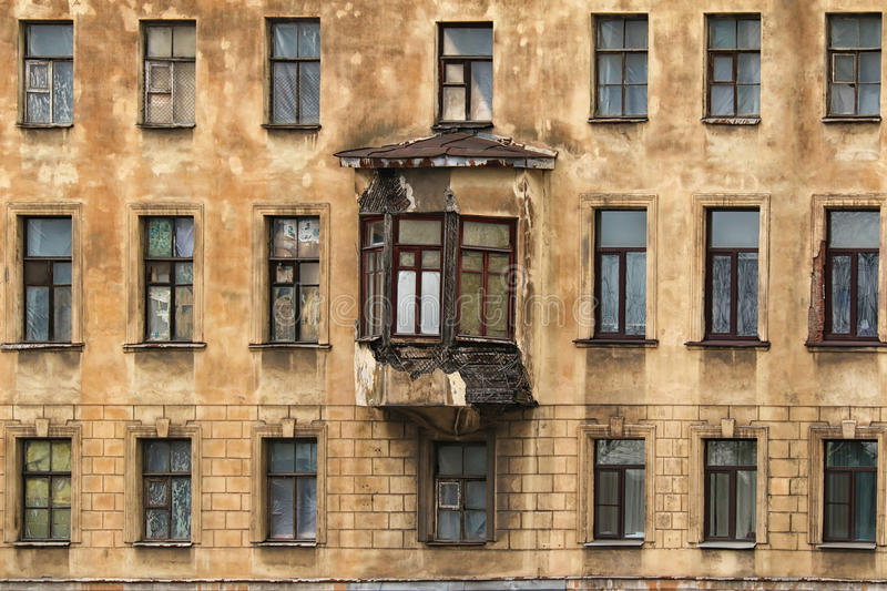 Bon Download Windows In A Row And Bay Window On Facade Of Apartment Building  Stock Image
